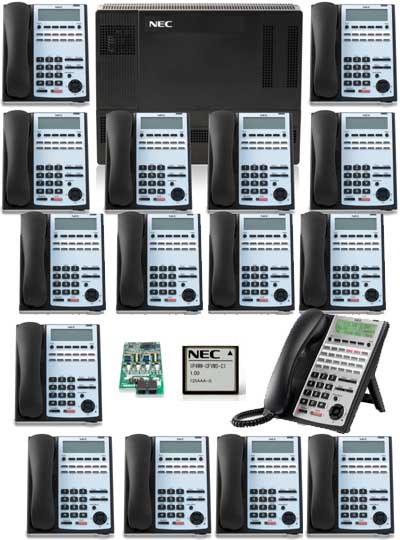 SL1100 Phone System with 16 Phones and Voice Mail